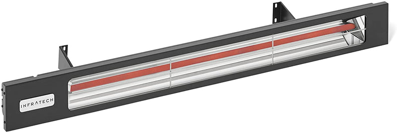 "Infratech SL Series Model SL1612BL Slimline Black Shadow 29-1/2"" Single Element 1,600 Watt 120 Volt Quartz Heater with Matte Black Housing"