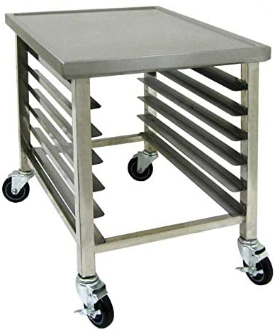 "GSW Heavy Duty Pan Rack with Work Top Cart with 6-Inch Swivel Casters (24""L)"