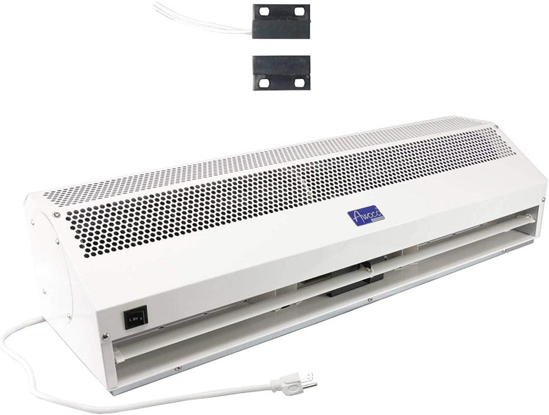 "Awoco 36"" Super Power 1 Speed 1200 CFM Commercial Indoor Air Curtain, ETL & UL Certified to Meet NSF 37 Food Service Standard"