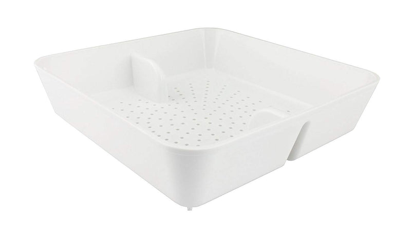 "Leyso FS-PB Floor Sink Drain Strainer ABS Plastic Drop-in Basket 8-1/2"" x 8-1/2"" x 2-1/4"" - Perfect for Restaurant, Bar, Buffet (2""H ABS)"