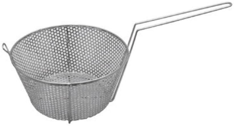 "GSW STR-P09 Stainless Steel Round Vegetable Basket with A Hook (17""L x 9""W x 7""H)"