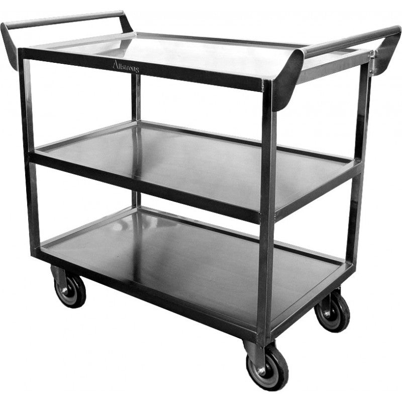 "GSW C-2333 Stainless Steel Super Heavy Duty Cart (20""W x 40""L x 33-½""H)"