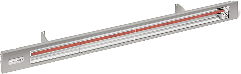 "Infratech SL Series Model SL3024SV Slimline 63-1/2"" Single Element 3,000 Watt 240 Volt Heater with Silver Housing"