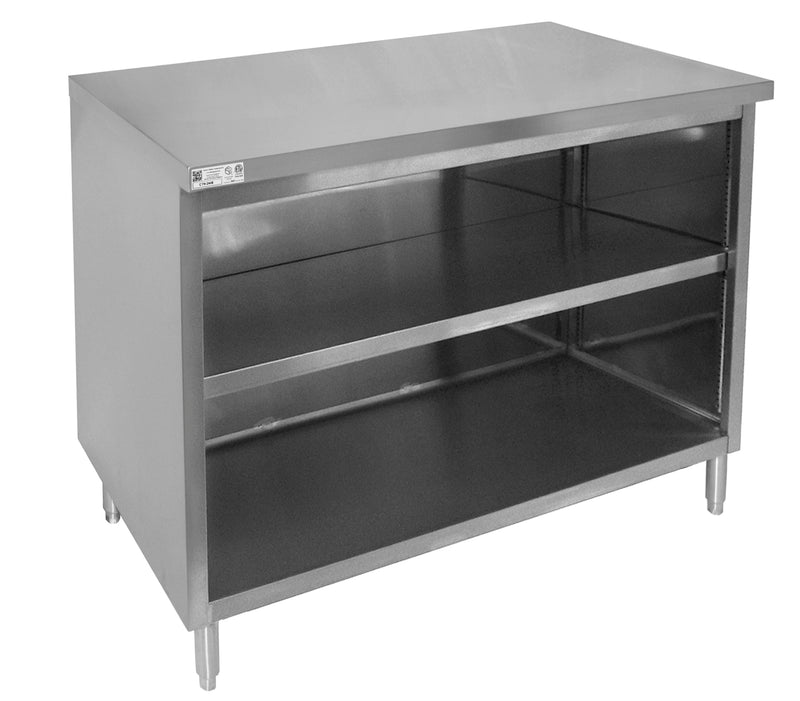 "GSW All Stainless Steel Flat Top Enclosed Work Table Cabinet No Door 30""(W) x 72""(L) x 35""(H)"