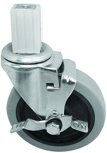 GSW Set of 4 Side-Brake Stem Caster for Worktables and Carts (KS5124, Brake x 4)