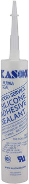 Kason NSF Food Service Silicone Adhesive Sealant Heat/Cold Resistant -80°F to 400°F Flexible Waterproof (Clear)
