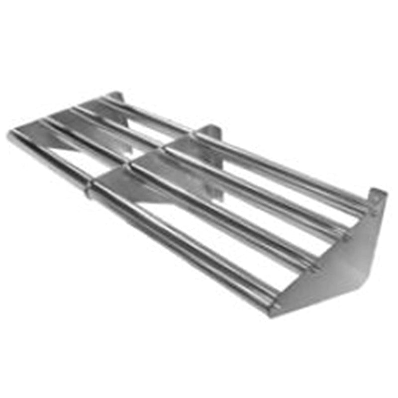 "GSW Stainless Steel Tubular Wall Mounted Drainage Shelf for Storage, 72""W x 16""D x 9""H (72""W)"