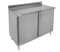 "GSW 18 Gauge All Stainless Steel Cabinet 4"" Rear Upturn Work Table w/Hinged Door 30""(W) x 72""(L) x 35""(H)"