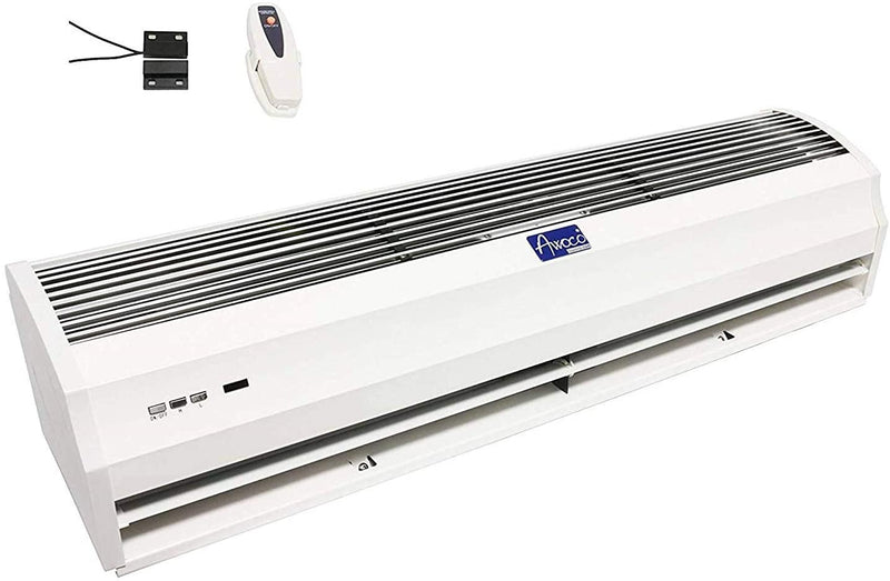 "Awoco 36"" Slimline 2 Speeds 1100CFM Indoor Air Curtain w/Remote Control and Magnetic Switch, Powerful, Quiet, Small Body, Light Weight, CE Certified, 3 Year Warranty"