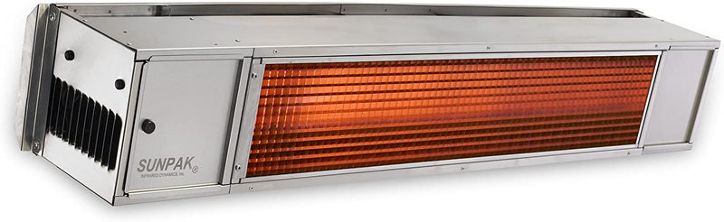 SunPak S34-S-TSH-ABT, Bronze/Stainless Steel Two-Stage Hard Wired Permanent Gas Patio Heater