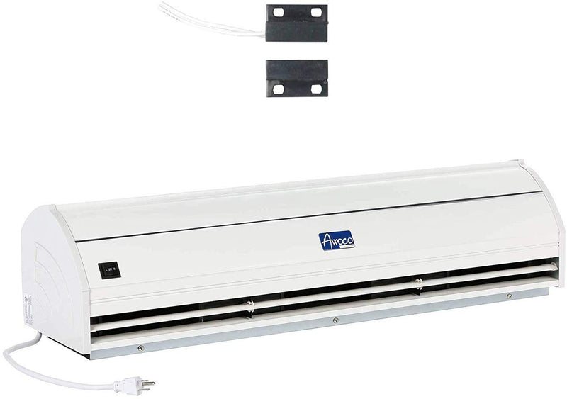 "Awoco 36"" Elegant 1 Speed 900 CFM Indoor Air Curtain, ETL & UL Certified to Meet NSF 37 Food Service Standard"