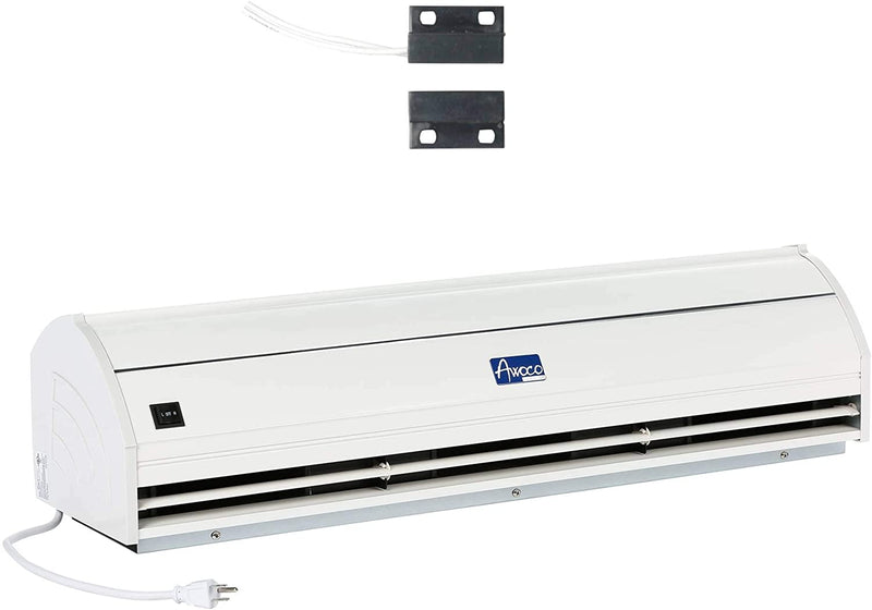 "Awoco 48"" Elegant 2 Speeds 1200 CFM Air Curtain UL with Magnetic Shutoff Delay Swing Doors"