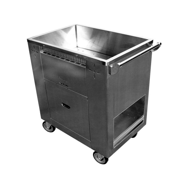"GSW C-STM Welded Stainless Steel Steam Cart (20""W x 33""L x 35""H)"