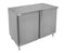 "GSW 18 Gauge Flat Top All Stainless Steel Cabinet Enclosed Work Table w/Hinged Door 24""(W) x 36""(L) x 35""(H)"