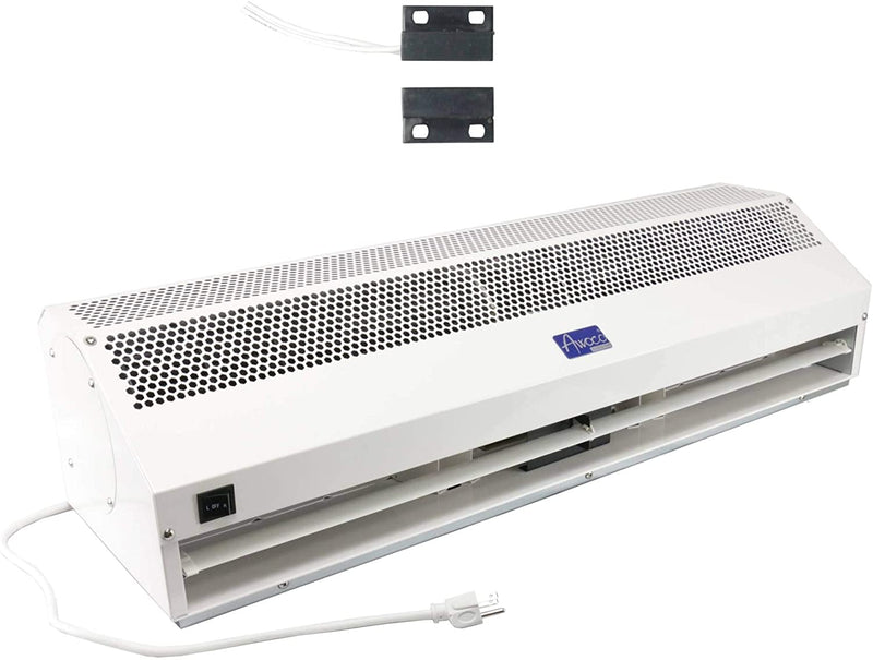 "Awoco 36"" Super Power 2 Speeds 1200 CFM Commercial Indoor Air Curtain with Shutoff Delay Magnetic Switch for Swinging Doors"