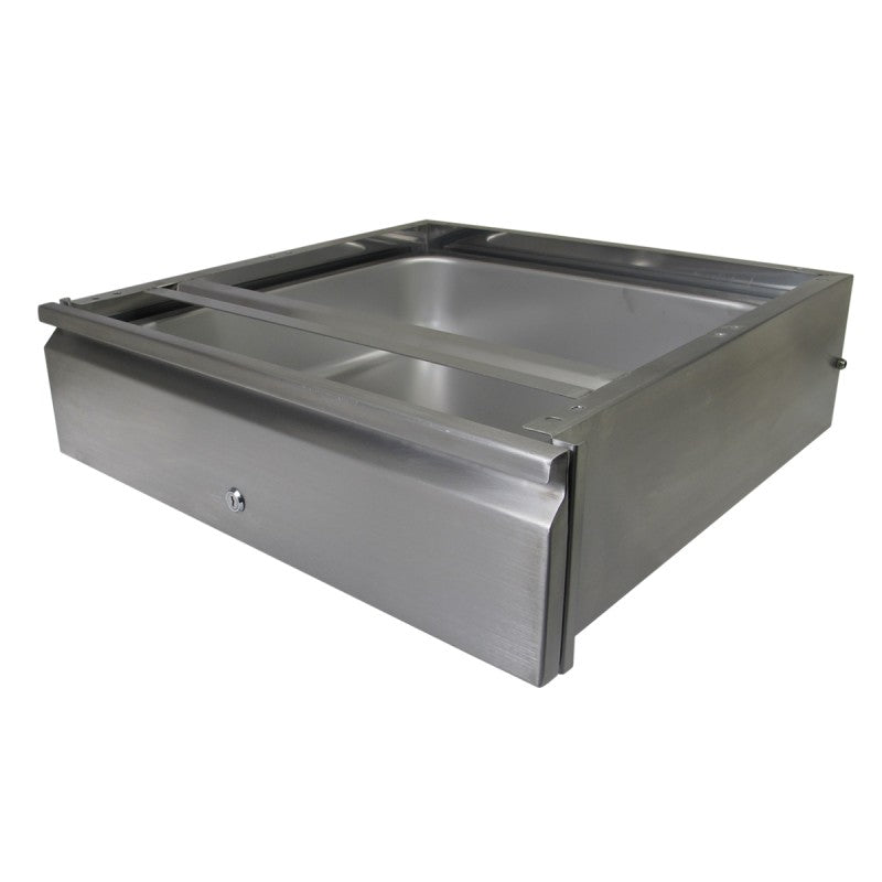 "GSW DA-2020L Stainless Steel Heavy Duty Table Drawer with Lock (25-1/16"" W x 22-15/16"" L x 6-7/8"" H)"