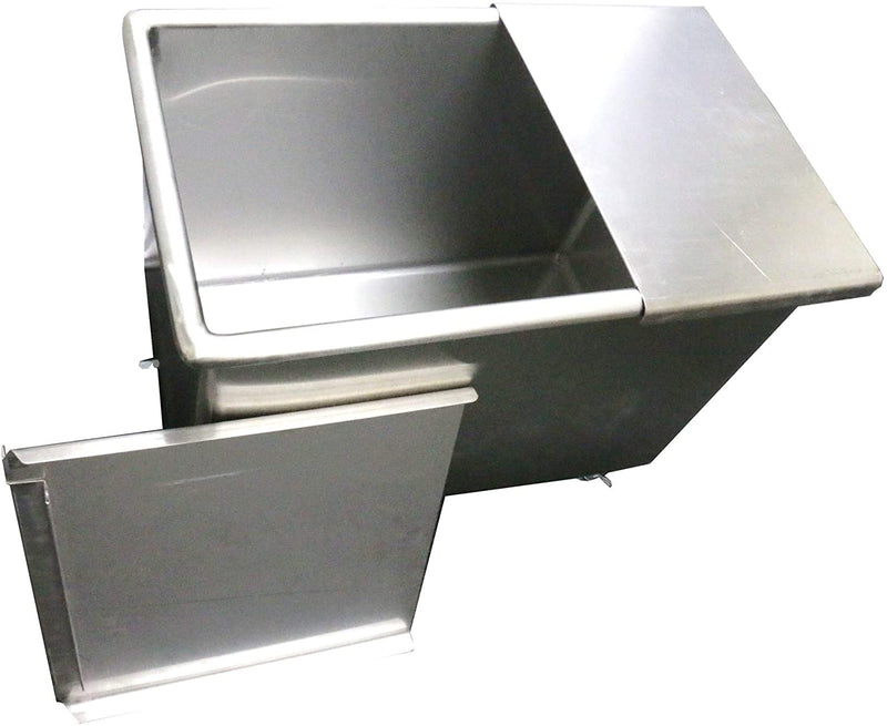"GSW Stainless Steel Commercial Flour Container with Two Sliding Cover Storage Bins ETL Certified (18""x29""x24"")"