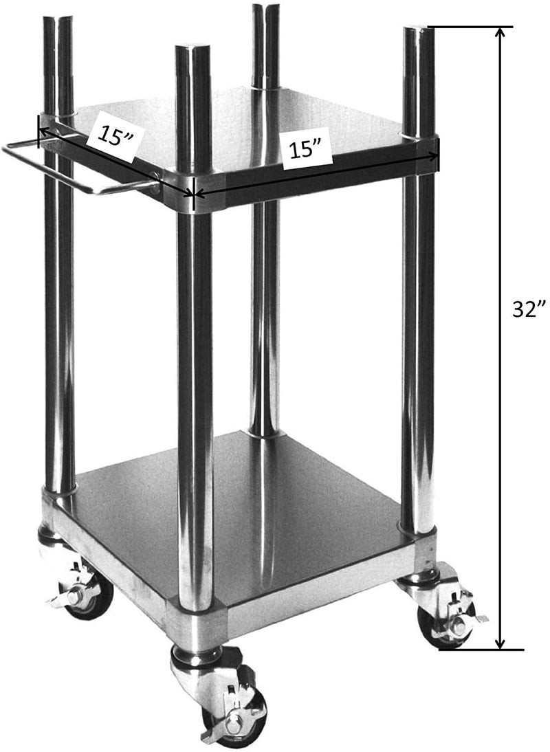 "Leyso Rice Warmer/Cooker Cart, Perfect for Restaurants, Hospitals, Hotels (15""W x 15""L x 32""H)"