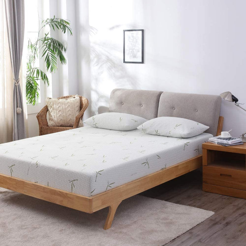 MLILY 10'' Dreamer Memory Foam Mattress, Bamboo Cover, Breathable Bed Mattresses (Full)