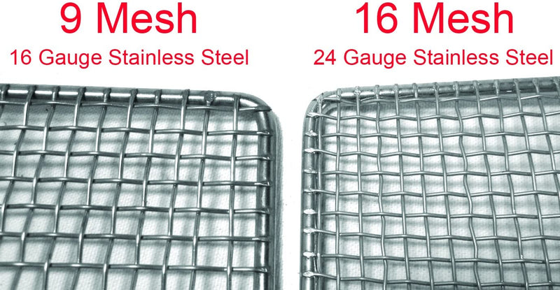 "GSW DN-FS23 Stainless Steel Donut Frying Screen 23"" x 23"" (16 Mesh)"