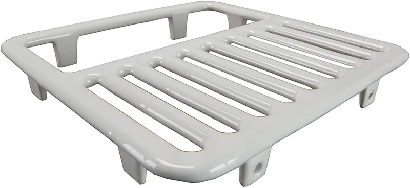 "GSW FS-T1/2 Cast Iron Porcelain Floor Sink Top Grate with Ceramic Surface, 9-⅜"" x 9-⅜"" x 1-¼"" - Perfect for Restaurant, Bar, Buffet (¾ Size)"