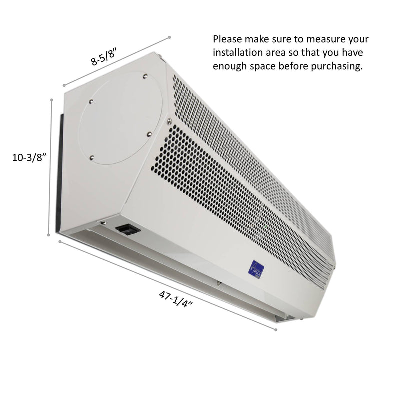 "Awoco 48"" Super Power 1 Speed 1700 CFM Commercial Indoor Air Curtain, ETL & UL Certified to Meet NSF 37 Food Service Standard"