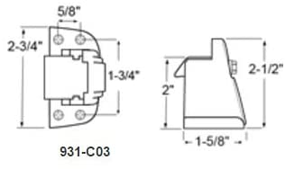 "Kason 931 Series Surfacemount Latch (Offset: Flush to 1/8"")"