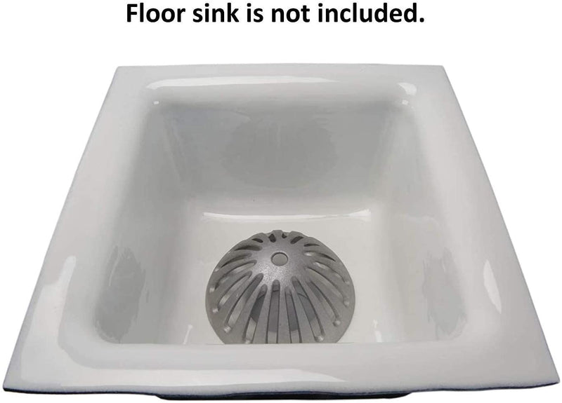 "GSW FS-DS Aluminum Dome Strainer for 12"" Floor Sink. 5-1/2"" Diameter"