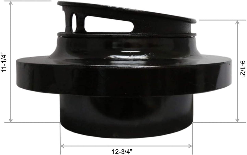 "Leyso Chinese Wok Range Adapter/Reducer with 13-Inch Cast Iron Rim - Convert The Large Wok Well to Smaller Size (22"" to 13"")"