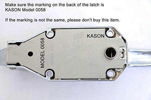 "Kason K58C Series Walk-In Safety Chrome Latch Complete Set with Key (Offset - 3/4"" to 1-1/2"")"