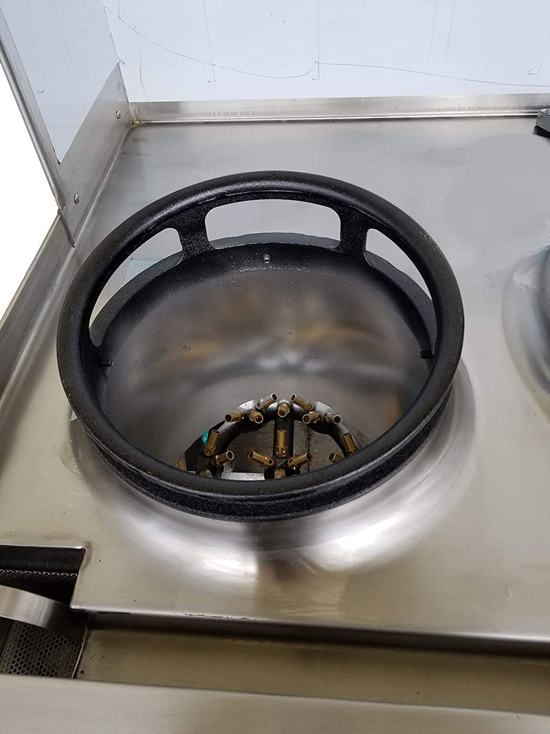 "Leyso 13"" Diameter 3 Opening Cast Iron Rim to Replace the Worn Out Wok Ring for Chinese Wok Range"