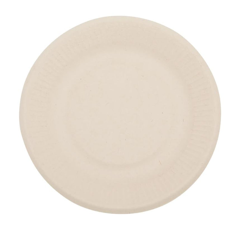 "Total Papers 6"" Eco-Friendly Compostable Wheat Straw Round Plates (1000 pcs)"