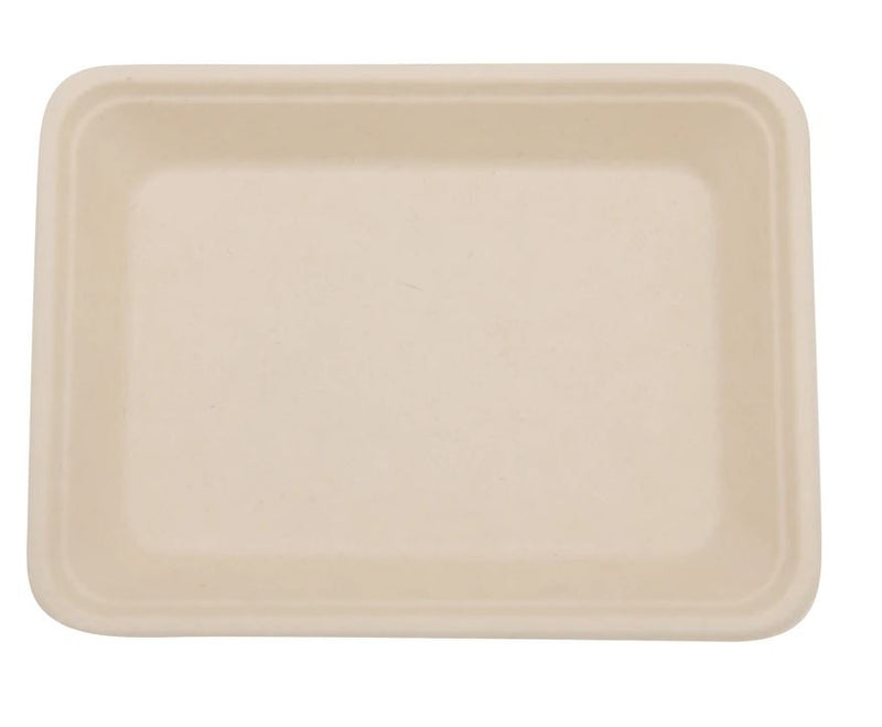 "Total Papers 7.5"" Eco-Friendly Compostable Wheat Straw Tray  (500 pcs)"
