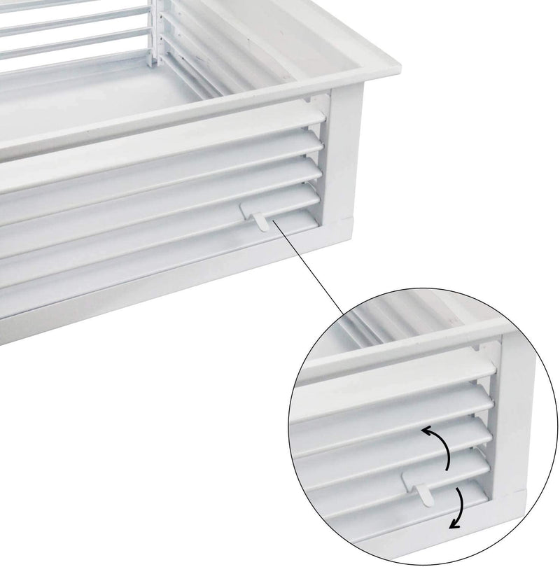"GSW 18"" White Powder Coated 4-Way Adjustable Air Diffuser for Evaporative Swamp Cooler, 20"" Mounting Edge (18""x18""x6"")"