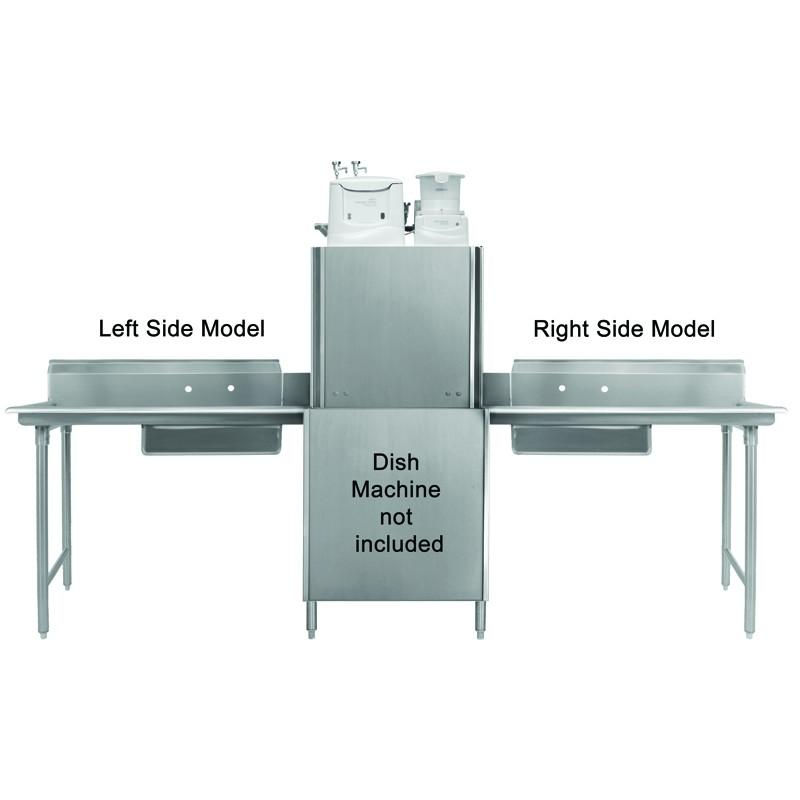 "GSW Stainless Steel Soiled Dish Table 30""Lx 30""W Right Side NSF Approved"