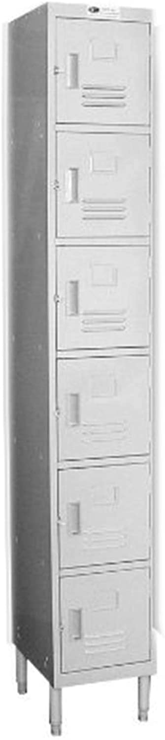 "GSW 6 Doors Premium Steel Lockers - Ideal for Restaurant, School & Office (6 DR 16""D)"