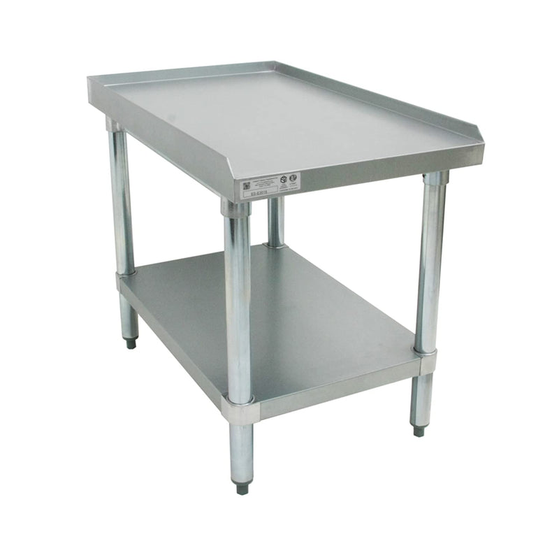 "GSW 18 Gauge Galvanized Steel 3 Side 1"" Upturn Equipment Stand ETL Certified 30"" x 18"""