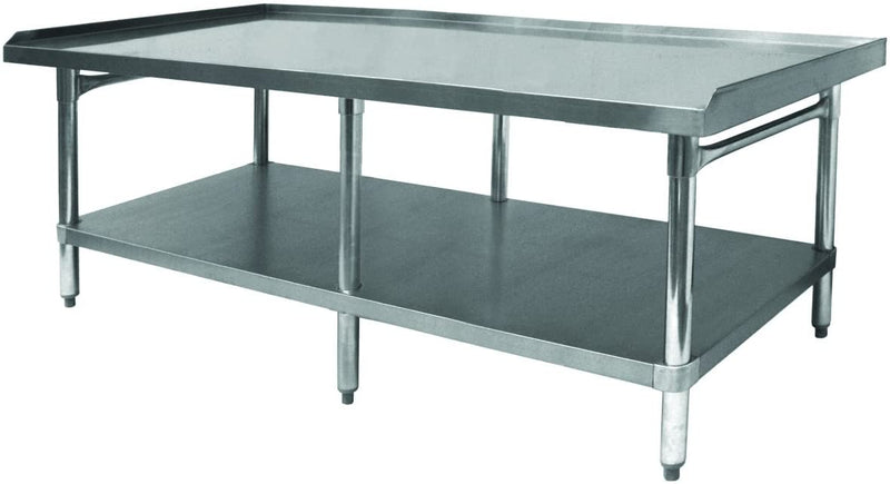 "GSW All Stainless Steel Equipment Stand with 1 Undershelf & 1"" Adjustable Bullet Feet. (ETL Certified), Size:30"" W x 60-1/2""L x 24"" H"