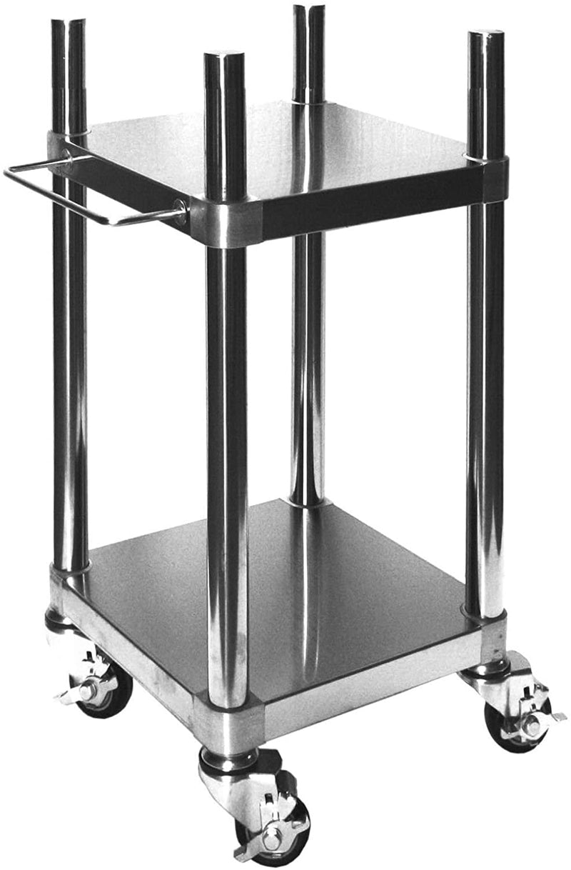 "GSW Stainless Steel Top Rice Warmer Cart, 15"" x 15"" x 32"""