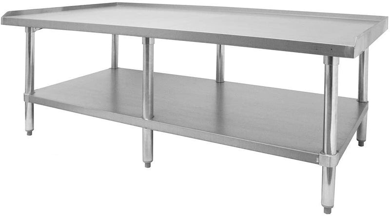 "GSW Stainless Steel Equipment Stand with Galvanized Undershelf & Legs (ETL Certified) 30"" W x 60-1/2"" L x 24"" H"