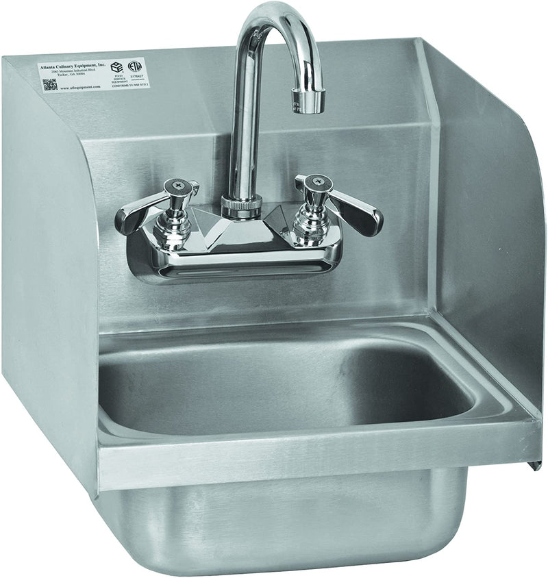 GSW Mini Wall Mount Hand Sink with Welded Splash Guards ETL Certified