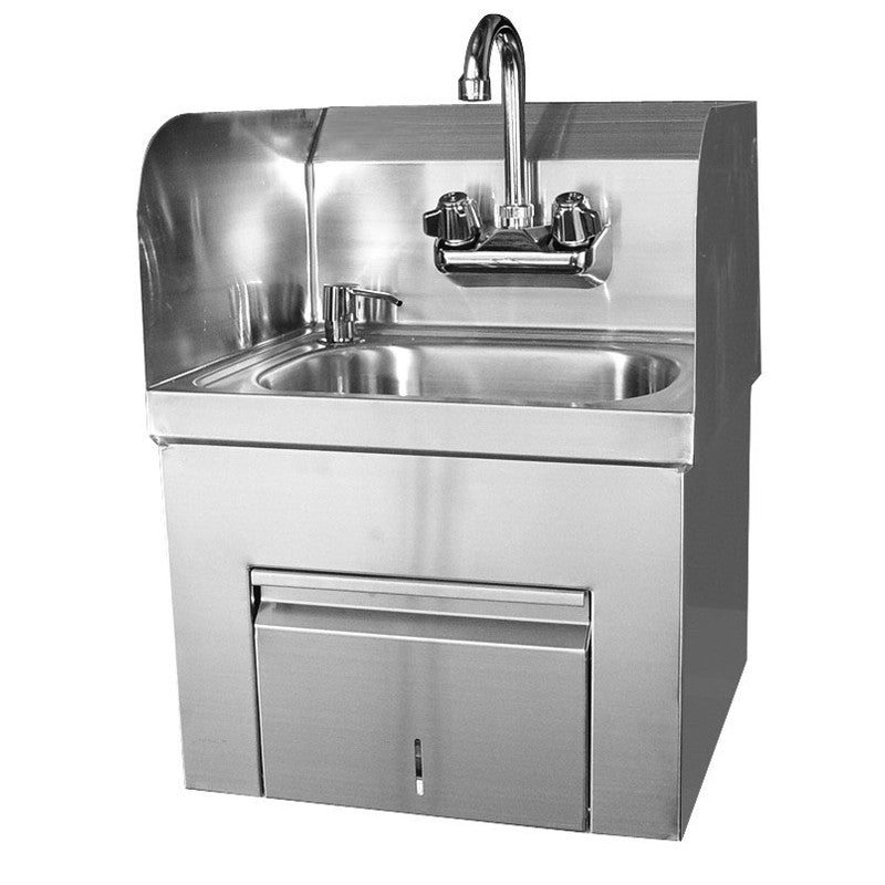 GSW Splash Guard Hand Sink with Towel and Soap Dispenser