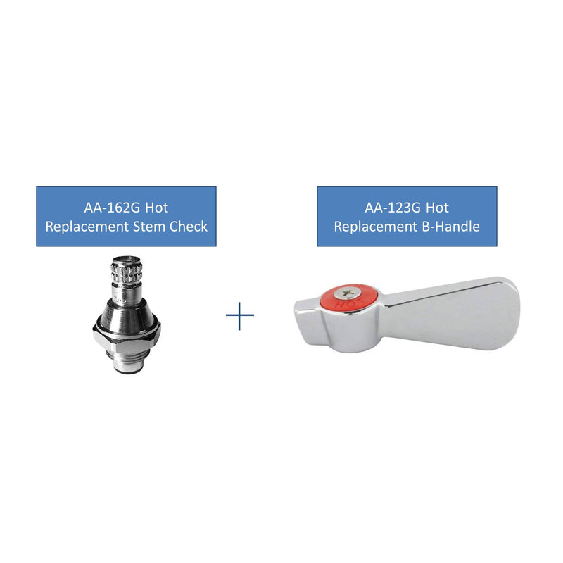 "AA Faucet Replacement Stem Check for 4"" Hand Sink Faucets"