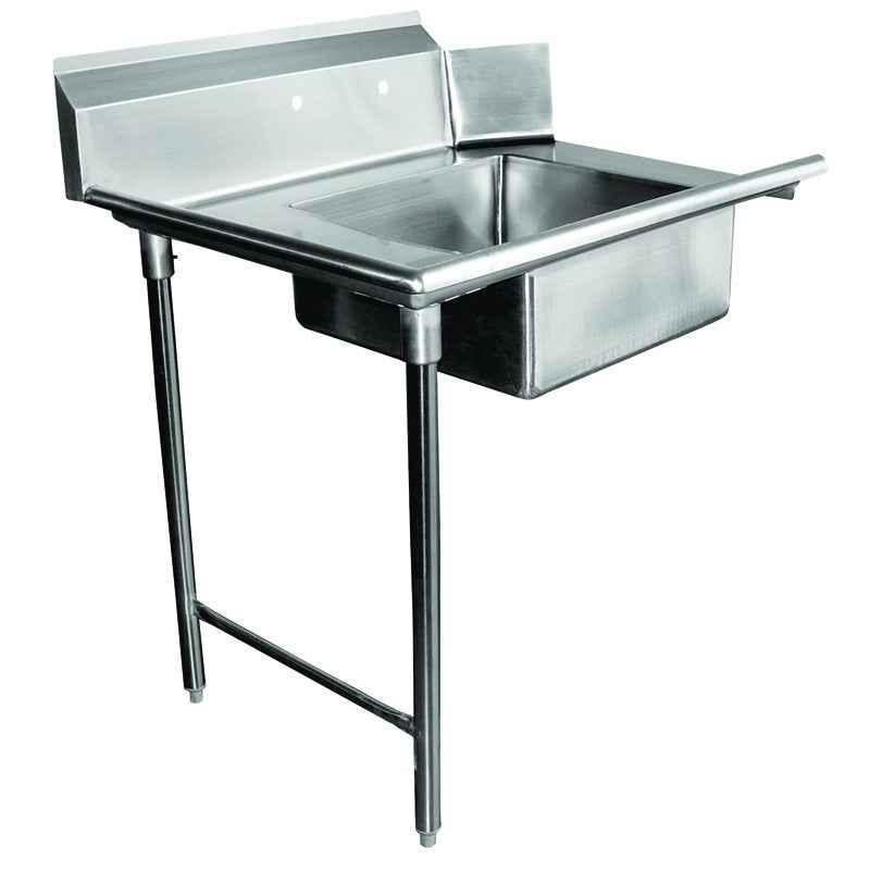 "GSW Stainless Steel Soiled Dish Table 72""L x 30""W Left Side NSF Approved"