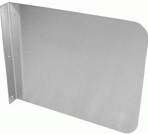 "GSW Stainless Steel Wall Mount Splash Guard for Commercial Restaurant Hand Sink and Compartment Prep Sink, NSF Certified (20"" W x 20"" H)"