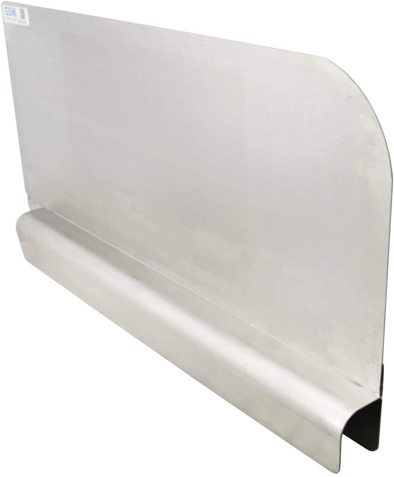 "GSW Stainless Steel Insert Type Splash Guard for Compartment Sinks (28"" L x 11"" H Right)"