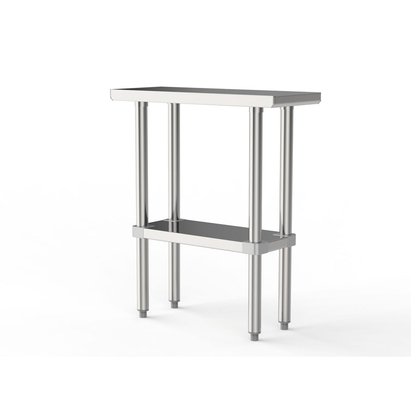 "GSW Commercial Grade Flat Top Work Table with Stainless Steel Top, Galvanized Undershelf & Legs, Adjustable Bullet Feet, NSF/ETL Approved to Meet Sanitation Food Service Standard 37 (30""W x 12""L x 35""H)"