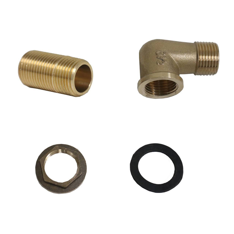 "AA Faucet 2 Sets of Wall Mount Faucet 1/2"" NPT Tapered Brass Mounting Kit for AA Faucet, BK Resource, T&S, Fisher"