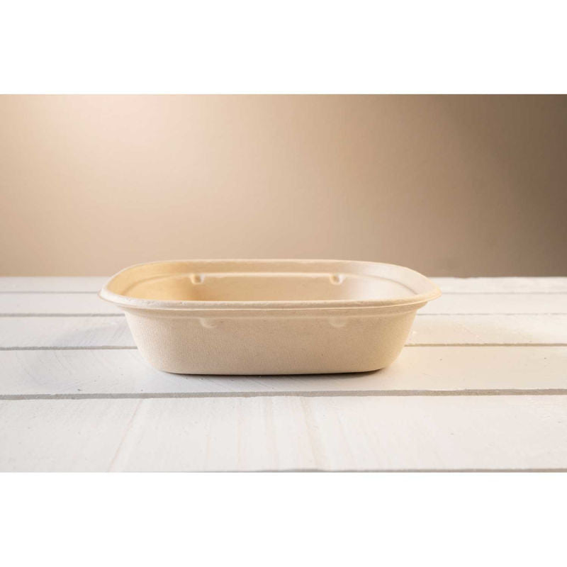 Total Papers 32 Oz. Eco-Friendly Compostable Wheat Straw Tray  (400 pcs)
