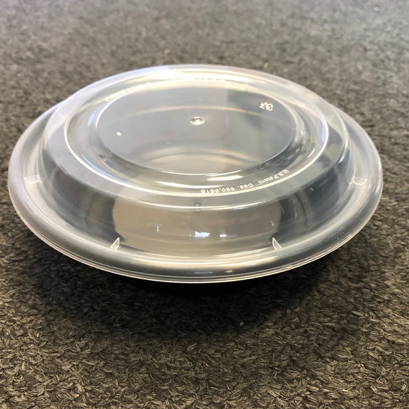 Leyso TO-JR Black Round Microwavable PP Containers (150 Count)